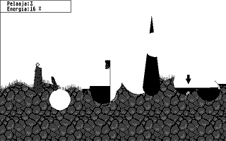Pommitus atari screenshot